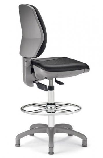Рабочее кресло для кассиров и контролеров (серое)