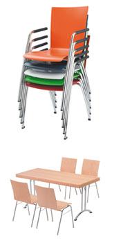 Немецкие деревянные стулья и столы и скамейки для ожидания с металлическими ножками