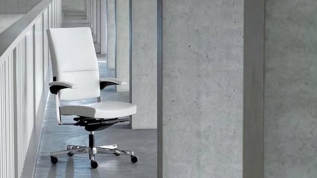 Крутящиеся офисные кресла и стулья SITAGONE DE LUXE (цвет белый)